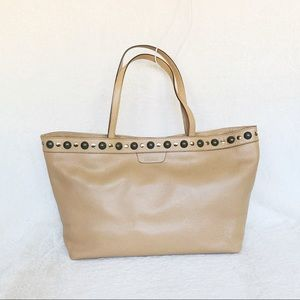 NWT Authentic Gucci Calf Leather Stubbed Tote Bag